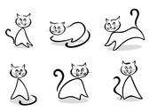 Stock Illustration of cats symbols and emblems