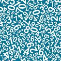 Stock Illustration of seamless pattern with numbers