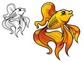 Stock Illustration of cartoon golden fish