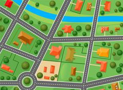 map of suburb district - stock illustration