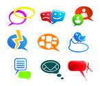 Stock Illustration of chat and communication icons