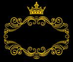 Stock Illustration of retro frame with royal crown
