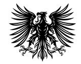 Stock Illustration of black heraldic eagle