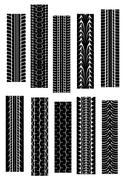 Tyre shapes Stock Illustration