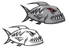Danger piranha Stock Illustration