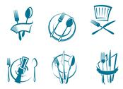Stock Illustration of restaurant menu icons and symbols