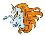 Stock Illustration of cartoon unicorn