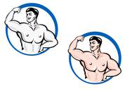 Stock Illustration of powerful bodybuilder