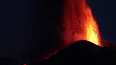 Volcano erupts - stock footage