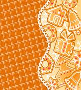 Stock Illustration of gingerbread colofrul background