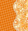 Stock Illustration of gingerbread colofrul background