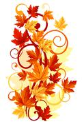 autumnal leaves - stock illustration