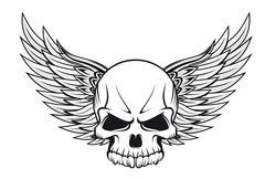 Stock Illustration of skull tattoo
