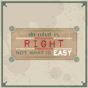 do what is right, not what is easy - stock illustration