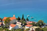 Stock Photo of beautiful seaside in a sunny day. lukovo beach, croatia