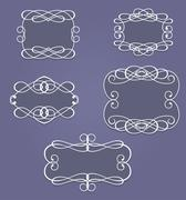 Stock Illustration of vintage frames and borders
