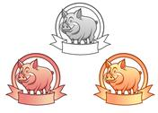 Stock Illustration of cartoon pig