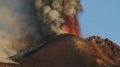 Etna ash - stock footage