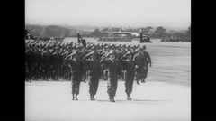 WW2 - US Air Force - Soldier 02 - March Parade Stock Footage