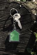 Keychain in a shape of house Stock Photos