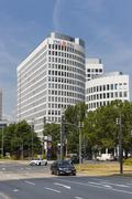 Germany, Hesse, Frankfurt, ING Diba building Stock Photos