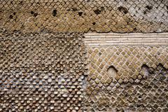 Italy, Tivoli, detail of antique brickwork at Hadrian's Villa Stock Photos