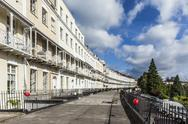Stock Photo of United Kingdom, England, Bristol, Clifton, Royal York Crescent, victorian