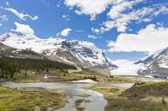 Stock Photo of Canada, Alberta, Rocky Mountains, Jasper National Park, Athabasca Glacier,