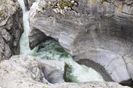 Stock Photo of Canada, Alberta, Rocky Mountains, Jasper National Park, view to Maligne Canyon