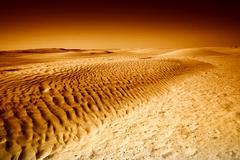 dunes in sahara black and white - stock photo