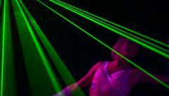 Gogo dancer sexy girl. Laser - stock footage