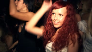 Stock Video Footage of Redhead girl dancing in the club