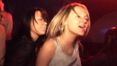 Girl dancing on the dance floor in the club. Stock Footage