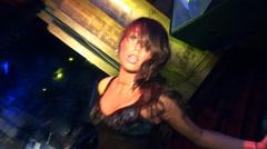 Gogo dancer sexy girl. Nightclub and dance. Stock Footage