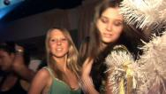 Stock Video Footage of Girl dancing on the dance floor in the club.