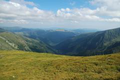 Fagaras mountains, Southern Carpathians, Romania Stock Photos