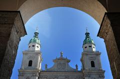 Stock Photo of the baroque dome cathedral of salzburg, austria