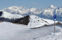 Stock Photo of ski resort zell am see, austrian alps at winter