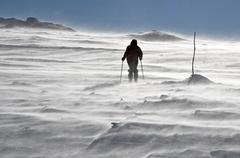 Back country skier (ski touring) Stock Photos