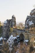 Stock Photo of Germany, Saxony, Saxon Switzerland, Bastei in winter