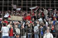 Stock Photo of cluj napoca, romania – march 26: fc cfr cluj team supporters shows their sup