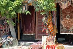 ancient turkish carpets, anatolia - stock photo
