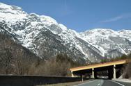 Stock Photo of mountain highway in the austrian alps