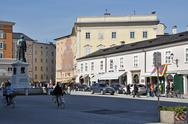 Stock Photo of salzburg – march 13: spring days in salzburg, tourists visiting the famous m