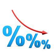 Stock Illustration of interest dip