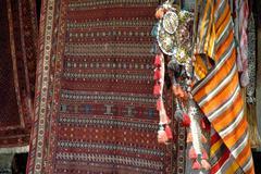 Ancient turkish carpet, anatolia Stock Photos
