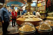 Stock Photo of istanbul – december 25: inside in the grand bazaar which is the largest and