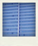 Germany, North Rhine-Westphalia, Duesseldorf, part of facade of office building - stock photo