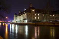 Germany, Bavaria, Landshut, Heilig-Geist-Spital at night - stock photo