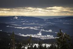 Germany, Bavaria, View from Grosser Arber above Bavarian Forest - stock photo